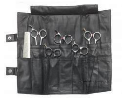 Leather Shear Case Tri-Fold 14 pockets Model: LC1003