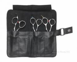 Leather Bi Fold Shear Case Model: LC1036 has 4 pockets