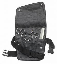 Large Leather Shear Holster Has 12 pockets Model: LC1500