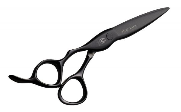 Mizutani Black Smith Fit Puffin  Black Left Handed Professional Hair Cutting Scissors