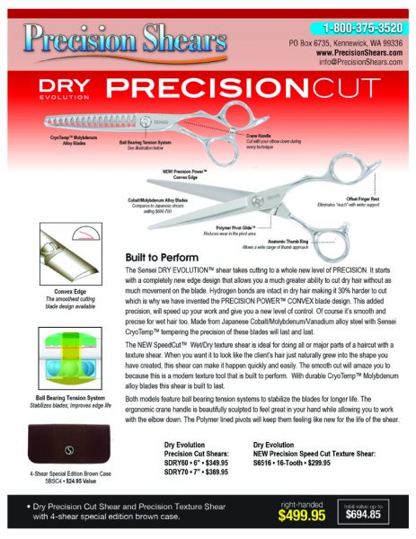 Dry Evolution Precision Cut
